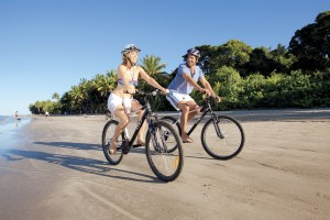 Couple_Four Mile Beach bike ride