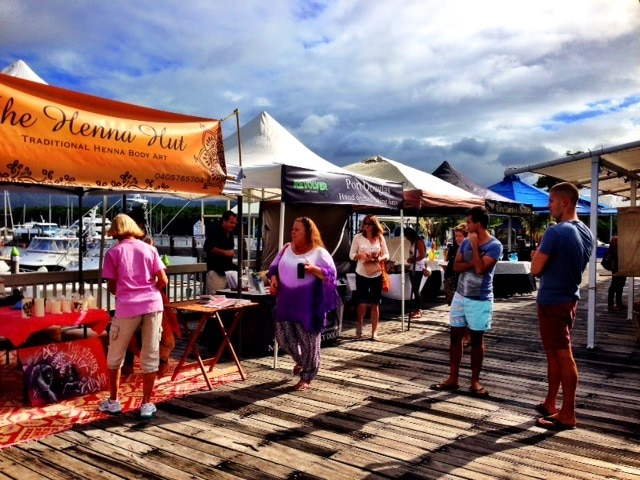 Reef Marina Markets - people shopping
