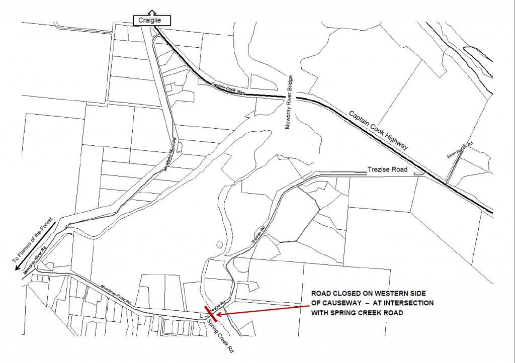 mowbray causeway map