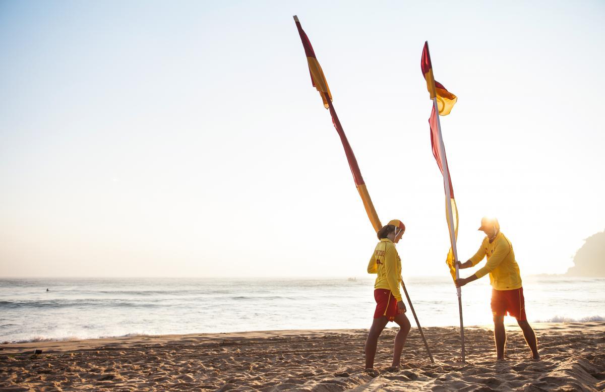 Flags down at Four Mile Beach