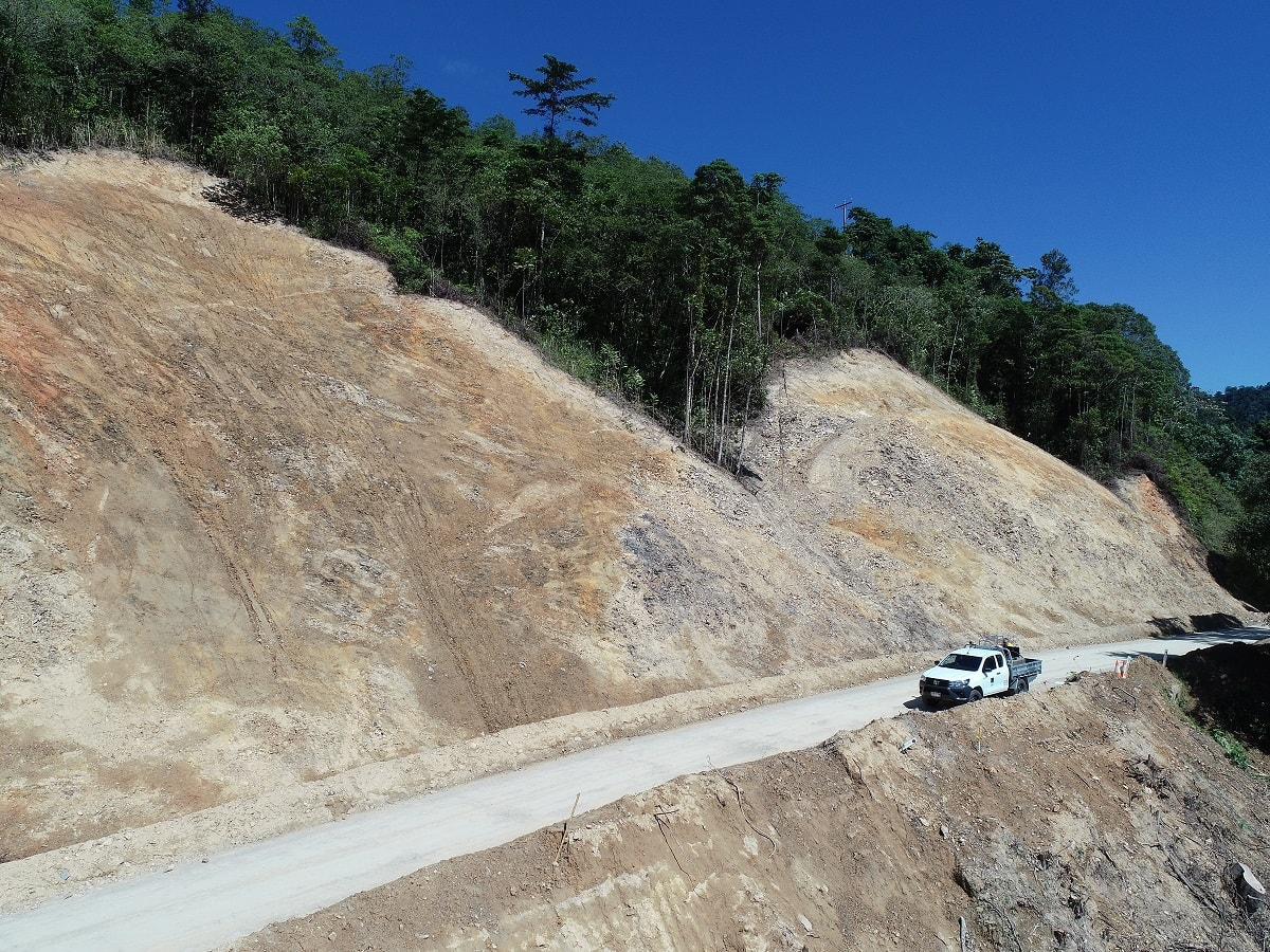 60-metre Daintree landslip tests Council crews