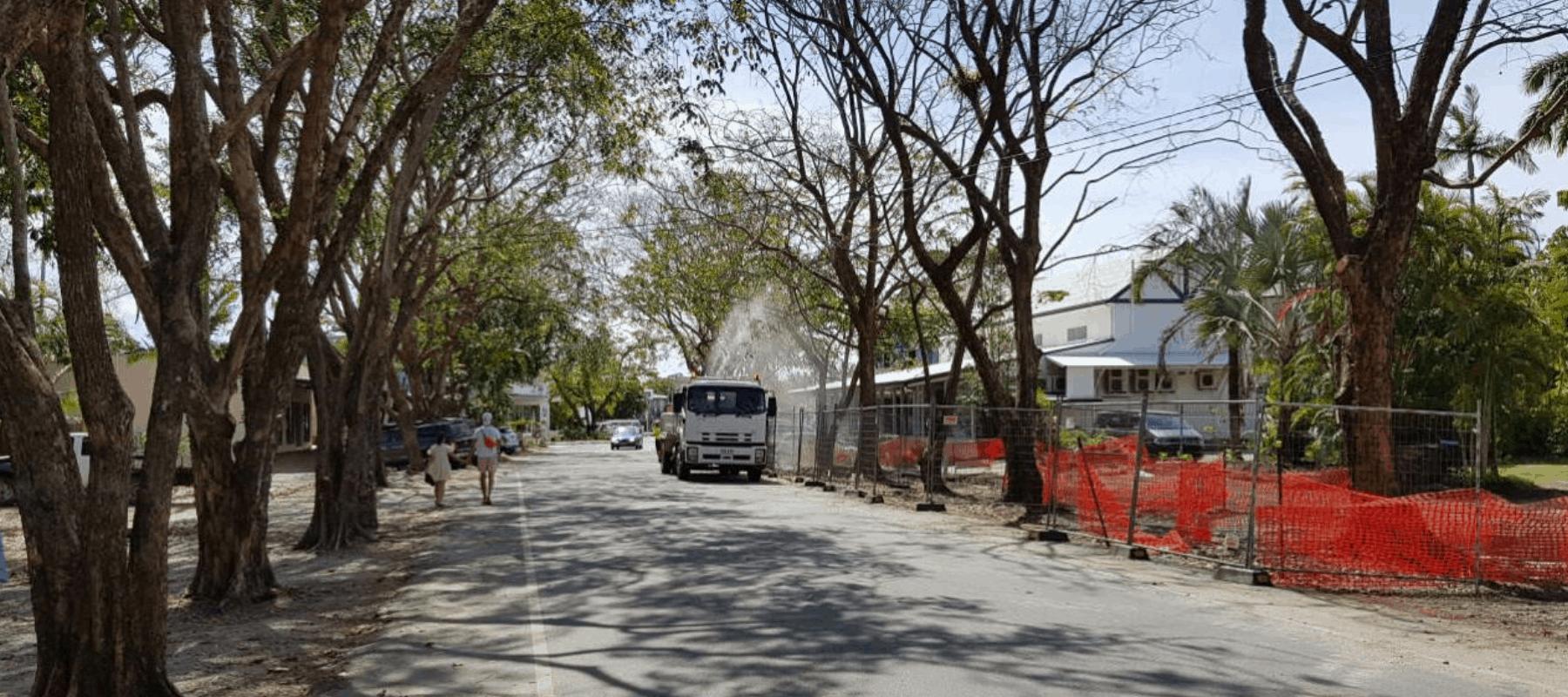 Watering truck warner street mid-works