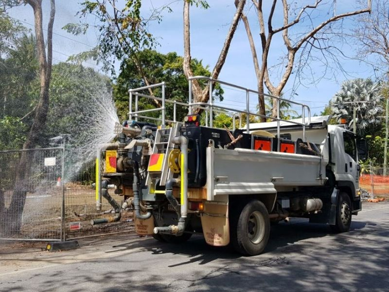 Watering truck in warner street