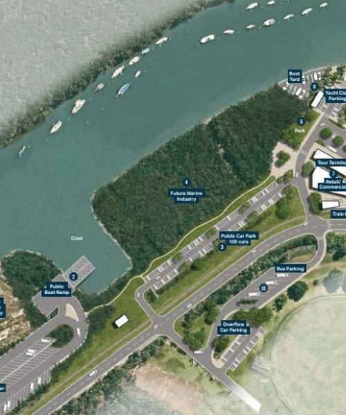 Port Douglas Waterfront South Tourism & Marine Master Plan artist impression