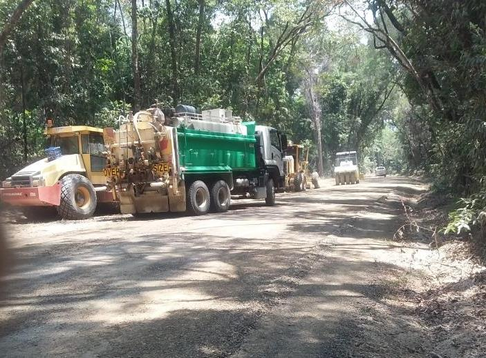 Grading works at Bloomfield Track
