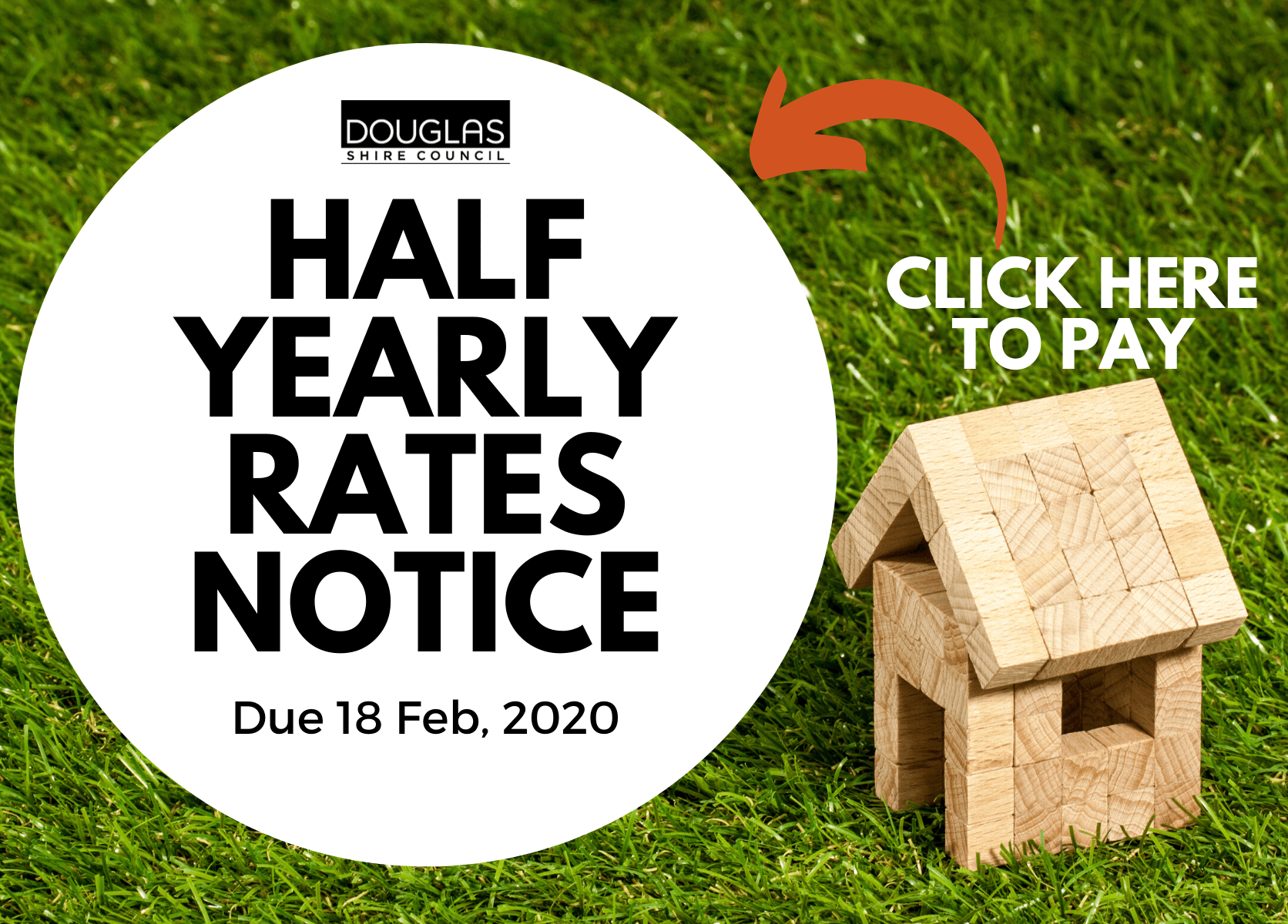 Home page Ad - half-yearly rates notice