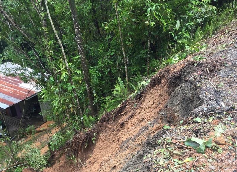 Ponzo Road Landslip