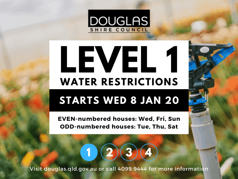 POST small - Level 1 Water Restrictions