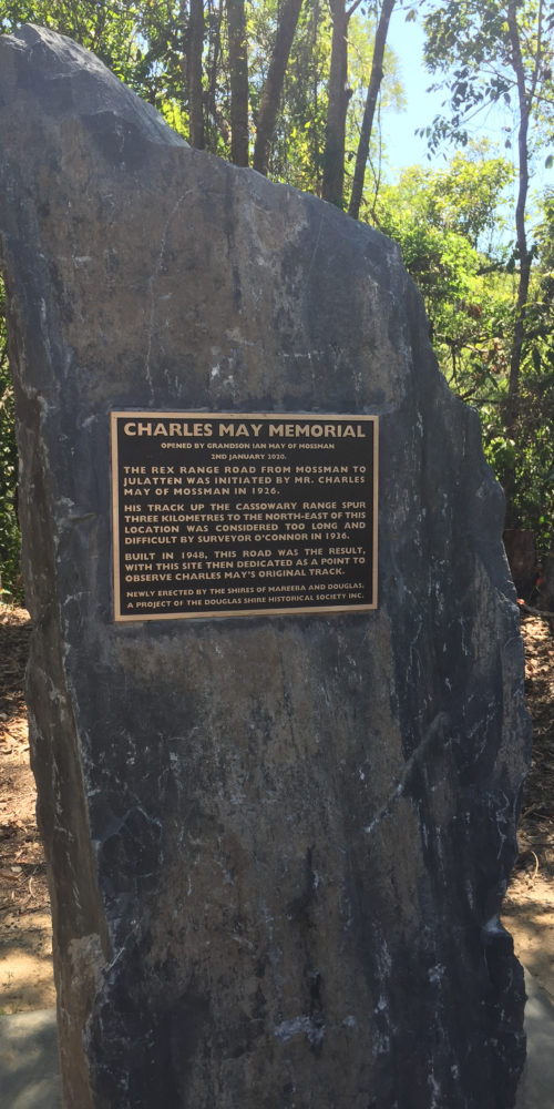 Charles May Memorial plaque