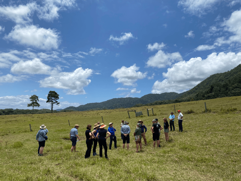 Key stakeholders gather to mark the sale of Lot 83 at Cape Kimberley