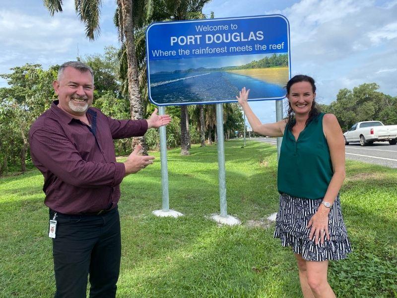 Welcome to Port Douglas - Douglas Shire Mayor Michael Kerr and Tourism Port Douglas Daintree (TPDD) Tara Bennett