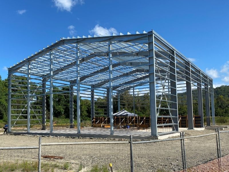 Structural steel at Resource Recovery Shed