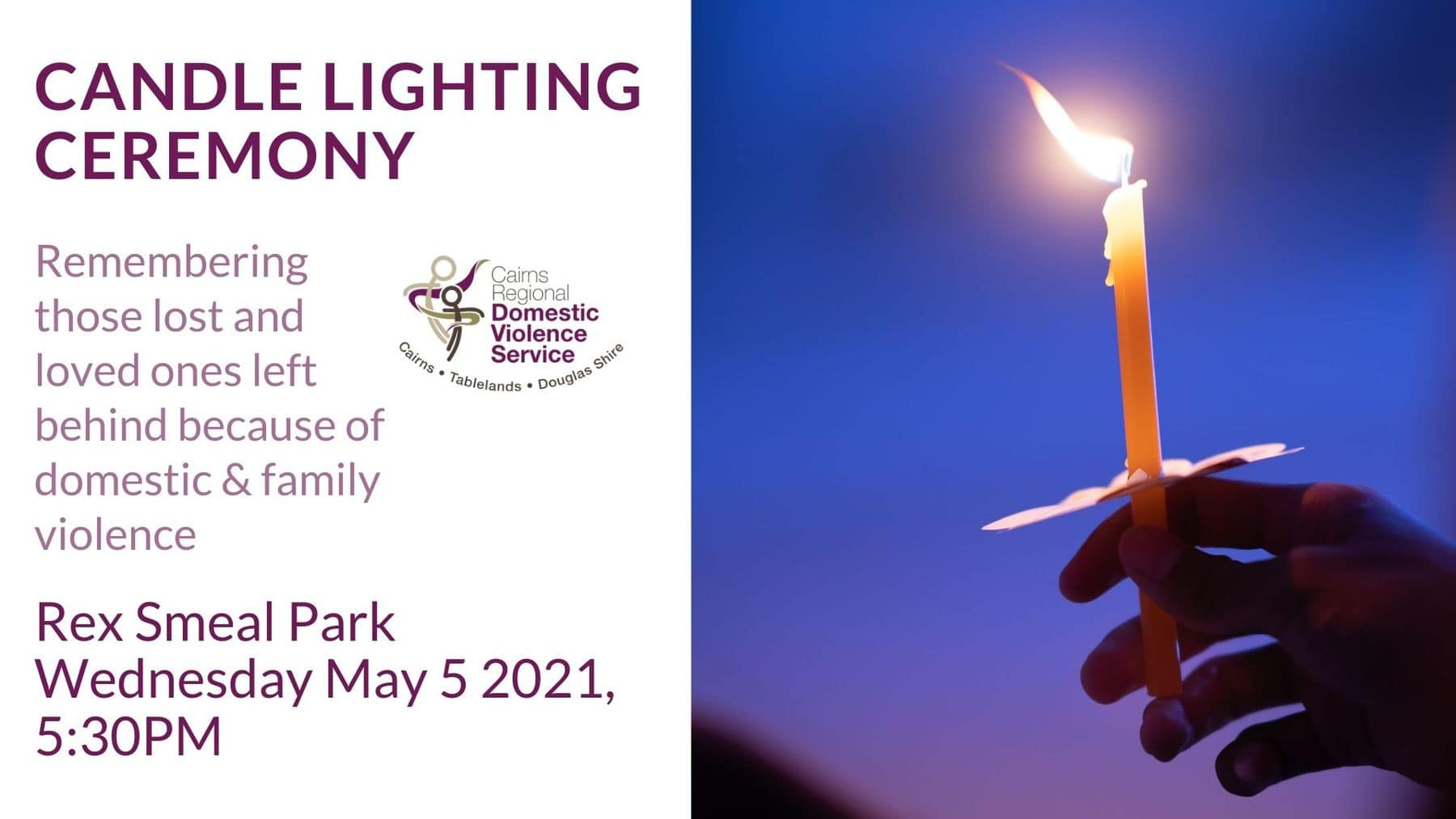 Candle Lighting Ceremony for Family and Domestic Violence