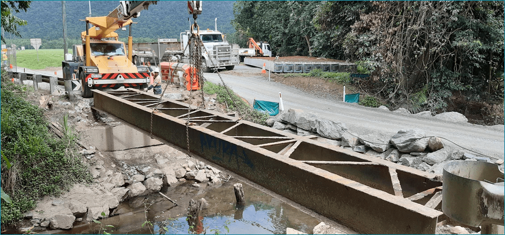 Anichs Bridge Girders Removed
